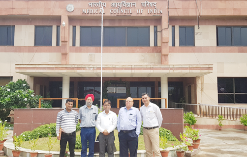 AIPCMA National delegation coming out MCI headquarter after meeting with MCI President