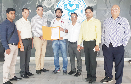 AIIMS RDA officials with AIPCMA executives at New Delhi