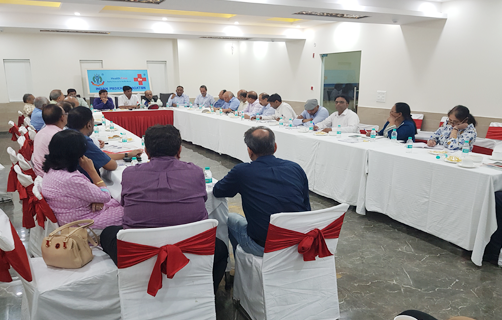 AIPCMA Vice-President in meeting with IMA officials in IMA Bhawan New Delhi